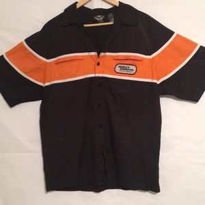 Vintage Harley Davidson racing men's shirt medium